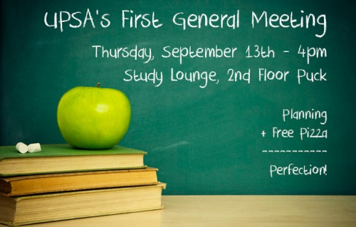 UPSA General Meeting This Thursday!