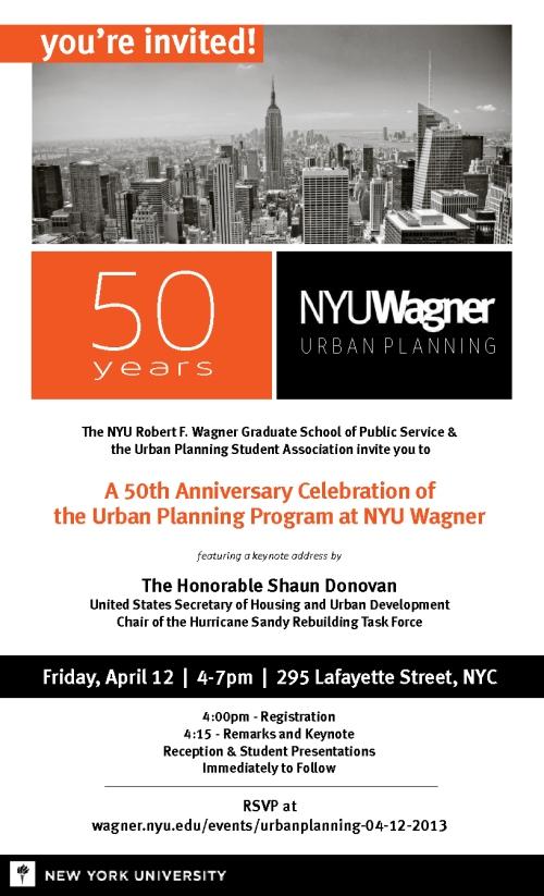 NYUWagner 50th Anniversary Invite